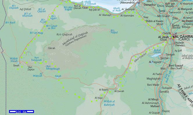 Egypt jeep tour map Western Desert