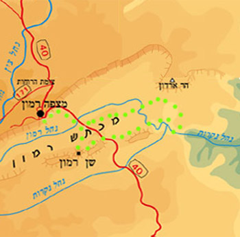 Negev jeep tour map East Ramon Crater