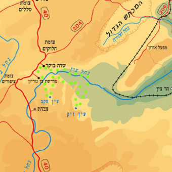 Negev jeep tour map Tzin valley